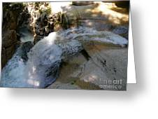 Running Waters Of Sabbaday Falls Greeting Card