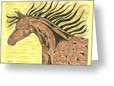 Running Wild Horse Greeting Card
