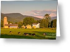 Rupert Vermont Dairy Farm Greeting Card