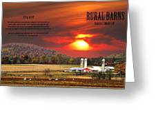 Rural Barns  My Book Cover Greeting Card