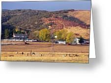Rural California Ranch Greeting Card