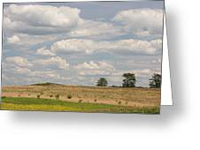 Rural Field Landscape In Maryland Greeting Card