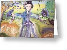 Rural Geisha Greeting Card