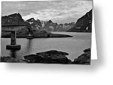 Rural Norwegian Spring Fjordland Greeting Card