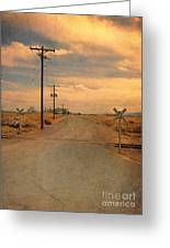 Rural Railroad Crossing Greeting Card
