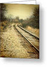Rural Railroad Tracks Greeting Card