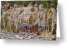 Rural Rustic Rundown Rocky Mountain Cabin Greeting Card
