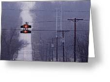 Rural Stop Light Greeting Card