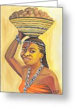 Rural Woman From Cameroon Greeting Card
