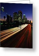 Rush Hour Harbor Freeway Los Angeles Ca Greeting Card