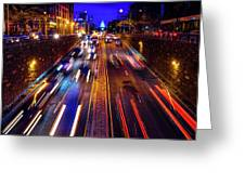 Rush Hour Traffic On North Capitol Show Greeting Card