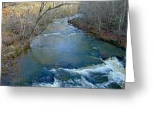 Rushing Vickery Creek Greeting Card