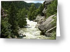 Rushing Water In Boulder Canyon Greeting Card