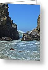 Rushing Wave - Big Sur Greeting Card