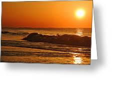 Rushing Waves Greeting Card