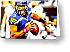 Russell Wilson In The Pocket Greeting Card