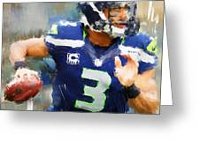 Russell Wilson Greeting Card
