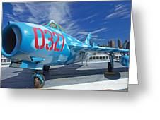 Russian Aircraft Mig At Interpid Museum Greeting Card