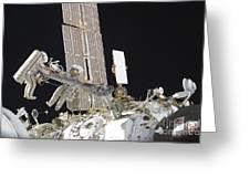 Russian Cosmonauts Working Greeting Card