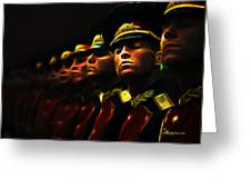 Russian Honor Guard - Featured In Men At Work Group Greeting Card