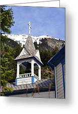Russian Orthodox Church Bell Tower Greeting Card