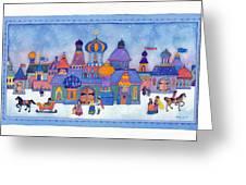 Russian Snowfall Fantasy Greeting Card