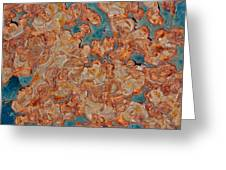 Rust Abstract Greeting Card