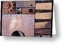 Rust And Metal Abstract  Greeting Card