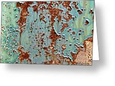 Rust And Paint Greeting Card
