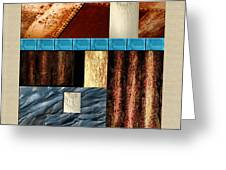 Rust And Rocks Rectangles Greeting Card