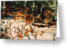 Rust And Roses Greeting Card