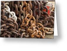 Rust Chains Greeting Card