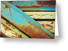 Rust N Turquoise Greeting Card