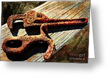 Rust Tools II With Texture Greeting Card