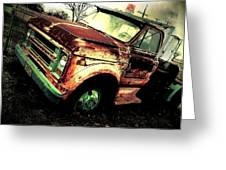 Rusted And Busted Greeting Card by Denisse Del Mar Guevara