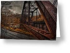 Rusted Bridge Greeting Card