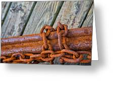 Rusted Chained Greeting Card