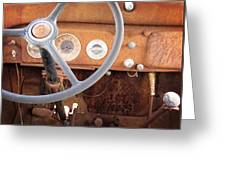 Rusted Dash Of Classic Car Greeting Card