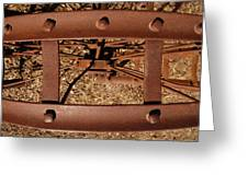 Rusted Deception Greeting Card