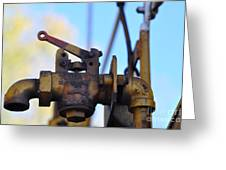 Rusted Flagg Valve Greeting Card