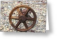 Rusted Gear Wheel Glacier National Park Montana Greeting Card