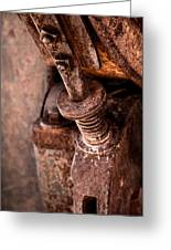 Rusted Gold Mine Equipment Greeting Card