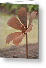 Rusted Iron Flower Greeting Card