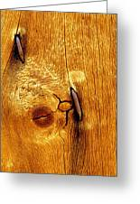 Rusted Nails In Weathered Pine Greeting Card
