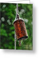 Rusted Old Cowbell Greeting Card by Kaye Menner