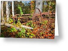 Rusted Old Plow Greeting Card