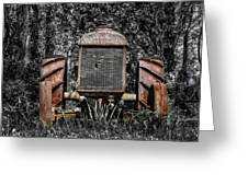 Rusted Old Tractor Greeting Card