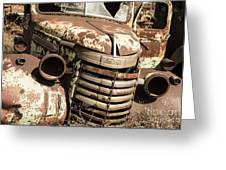 Rusted Pickup  Greeting Card