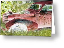 Rusted Truck 4 Greeting Card