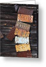 Rusted Usa Greeting Card